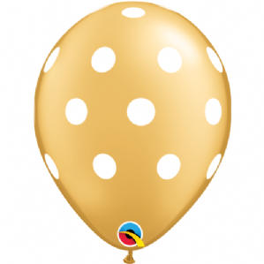 Gold Polka Dots Latex Balloons | Free Delivery